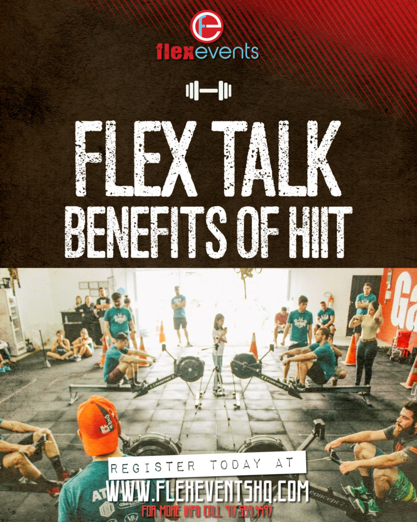 Flyer for Flex Talk blog for Benefits of HIIT