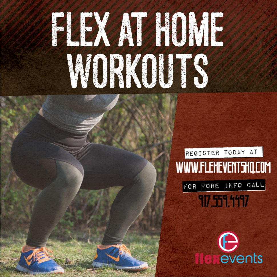 Flyer for at Home Workouts Blog